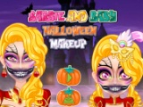 Barbie and Baby Halloween Makeup