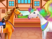 Horse And Unicorn Caring