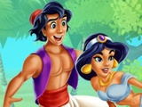 Jasmine and Aladdin Kissing