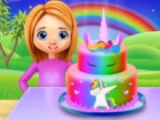 Rainbow Unicorn Cake Cooking