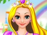 Rapunzel and Barbie Dress Up