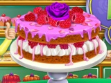 Rosewater And Raspberry Sponge Cake