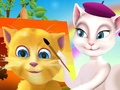 Talking Angela painting Ginger